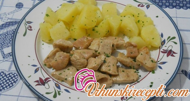 Bareni krompir sa svinjetinom