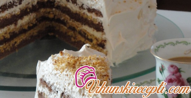 Karamel lešnik torta