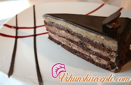 Nugat torta sa čokoladom i rumom