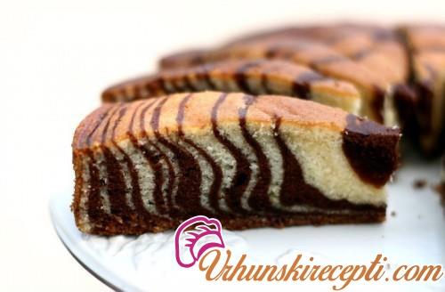 Posni zebra kolač