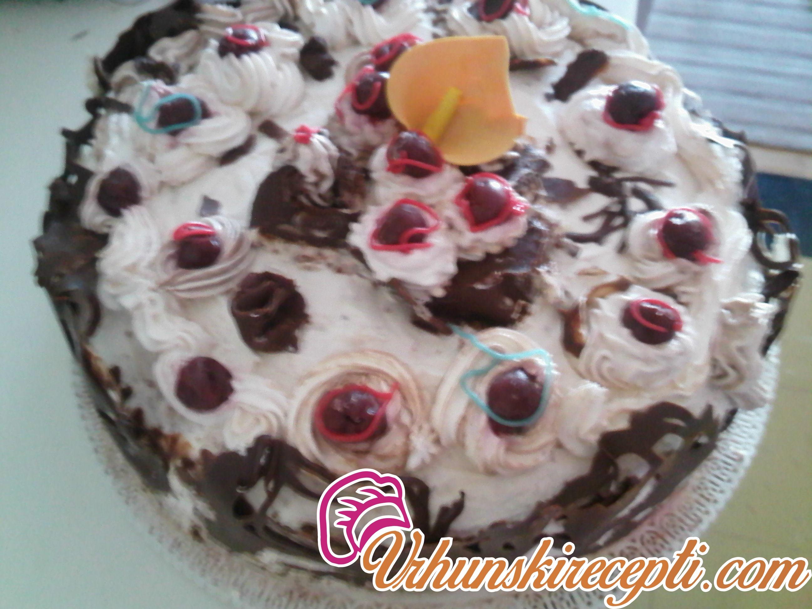 Brza torta sa plazmom i voćem | Minjina Kuhinjica