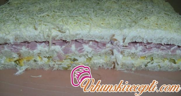 Slana tost torta - Vrhunski Recepti