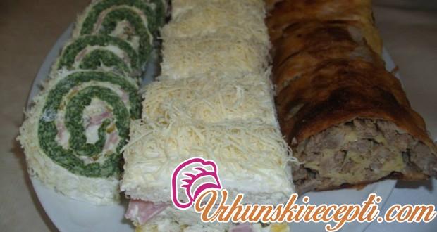 Rolat sa spanaćem, slana tost torta i kukuruzni rolat - Vrhunski Recepti
